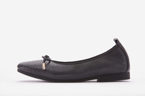 Fabrizia QQ-1 - Black Women Flats Side View